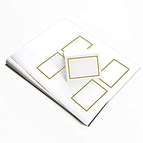 photo regarding Gold Printable Place Cards identify 4up Printable Foil Position Card - White Gold, 25 Pack