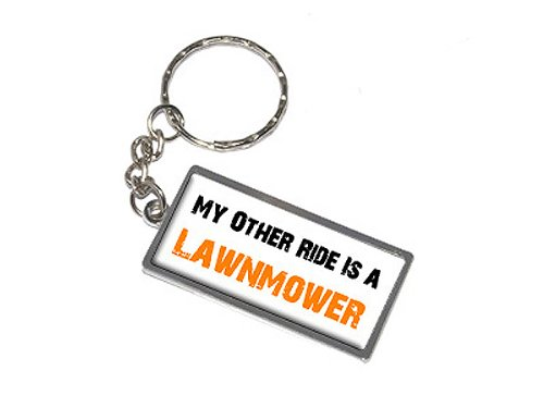My Other Ride Vehicle Car Is A Lawnmower - New Keychain Ring