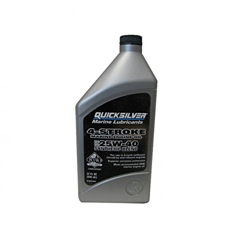 QuickSilver 8M0078623 FC-W 4 Stroke Synthetic Blend 25W-40 Marine Engine Oil