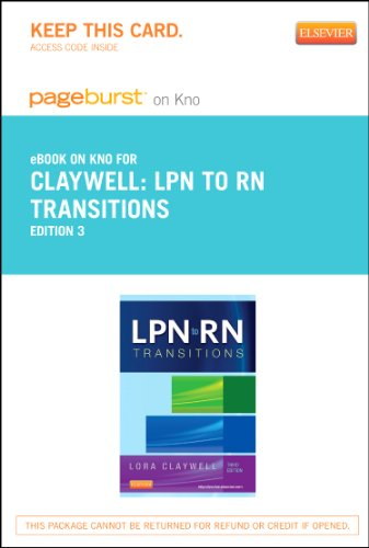 LPN to RN Transitions - Elsevier eBook on Intel Education Study (Retail Access Card), 3e