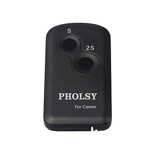 PHOLSY Infrared Wireless Shutter Remote Control for Canon Cameras, Replaces Canon Remote Controller RC-6