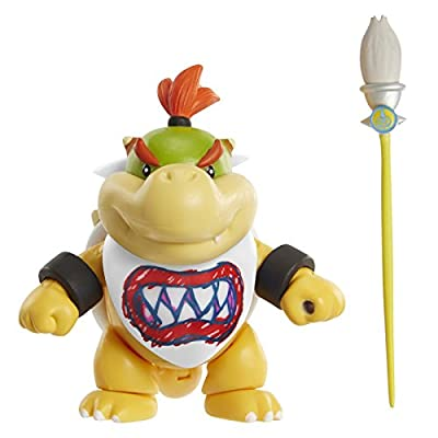 World of Nintendo Bowser Jr. with Paint Brush Action Figure, 4