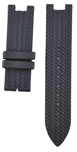 212ZTD 20mm Black Rubber Guess Collection fit for CableChic Y16006L5 Replacement Watch Band Strap Free Spring BAR Tool 253GSC