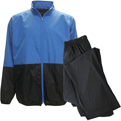 aterproof Golf Rain Suit, Medium Blue/Blk Jacket/Black Pant ()