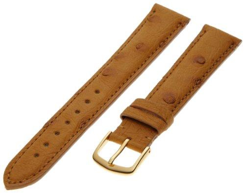 Hadley-Roma Men's MS2003RAJ200 20-mm Black Genuine Ostrich Leather Watch Strap