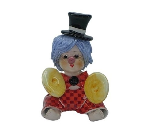 Zampiva Italian Clown Figurine with Cymbals - Hand, used for sale  Delivered anywhere in USA