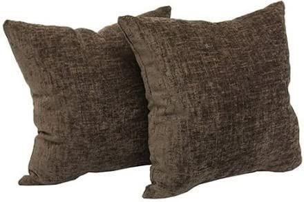 Mainstays Beautiful textured Chenille 18 x 18 Decorative Pillow, Set of 4 in Soft Colors Designed Brown