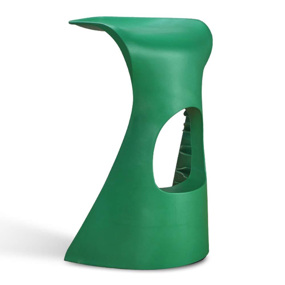 colores increíbles LiRuiPengDZ GWDJ Taburete Taburete Taburete Creativo del Ocio Simple/Barra plástica de la Moda Alto Taburete/Silla contraria Simple/Taburete Estable Reposapiés Reforzado (Color : Green)  Disfruta de un 50% de descuento.
