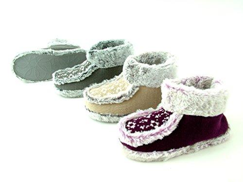 brandsseller - Zapatillas de estar por casa de Material Sintético para mujer Beige - beige