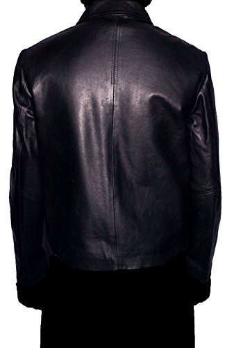 HLS Men's Life On Mars Soft Faux Black Leather Coat