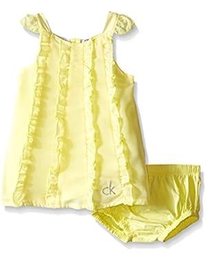 Baby Girls' Yellow Chiffon Overlay and Panty
