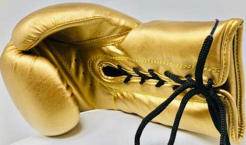Floyd Mayweather Autographed Boxing Glove Gold Signed COA Right PSA/DNA Certified Autographed Boxing Gloves