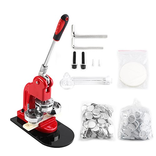 Button Maker, 1/1.25/2.3 inch 2.5/3.2/5.8cm Badge Punch Press Maker with 1000 Circle Button Parts for DIY … (2.3 inch -