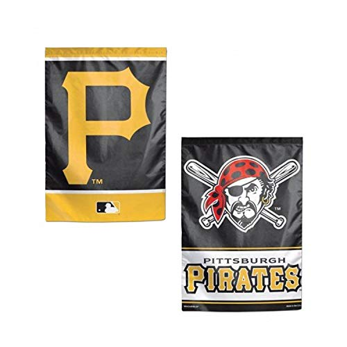 WinCraft MLB Pittsburgh Pirates Flag12x18 Garden Style 2 Sided Flag, Team Colors, One Size (Pittsburgh Pirates Bed)