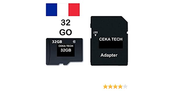Tarjeta de Memoria Compatible con Huawei P8 Lite (2017), CEKA TECH® Micro-SD 32GB Clase 10 con Adaptador SD