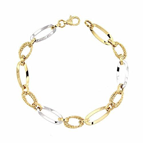Bracelet 18k 19.5cm bicolor d'or. [AA1687]