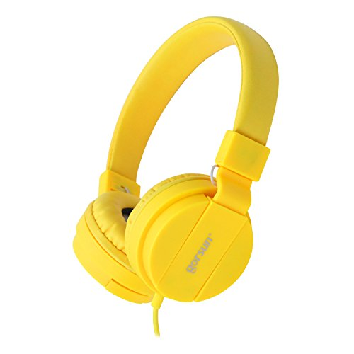 ONTA gorsun Foldable On Ear Audio Adjustable Lightweight Headphone for Children Cellphones Smartphones iPhone Laptop Computer Mp3/4 Earphones (Yellow)