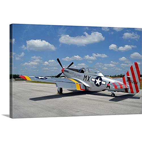 GREATBIGCANVAS Gallery-Wrapped Canvas Entitled North American F-51D Mustang by Stocktrek Images 48
