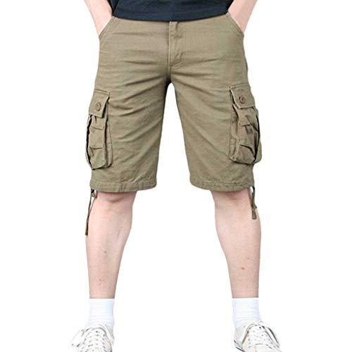 Nuovo Pant Shorts Casual Uomo Stile Multi Pantaloncini Giallo pocket Amlaiworld qnwfO4Egf