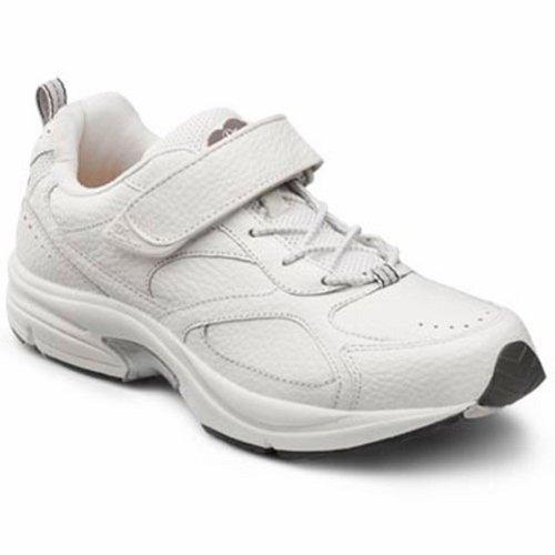 Dr. Comfort Winner Therapeutischer Diabetiker Extra-Tiefe Schuh Leder-und-Mesh-Spitze Weiß