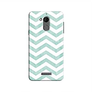 Cover It Up - Blue Bubblegum Stripe Coolpad Note 5 Hard case