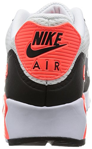Nike Air Max 90 Ultra Essential, Zapatillas de Running para Hombre, Weiß Blanco / Gris / Rojo / Negro (White / Cool Grey-Infrared-Black)