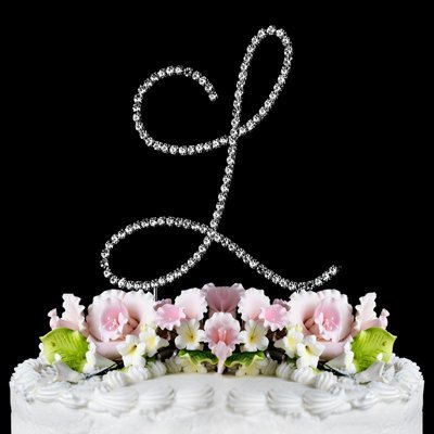 RENAISSANCE MONOGRAM WEDDING CAKE TOPPER LARGE LETTER L by Other (Cake Wedding Toppers L Monogram)