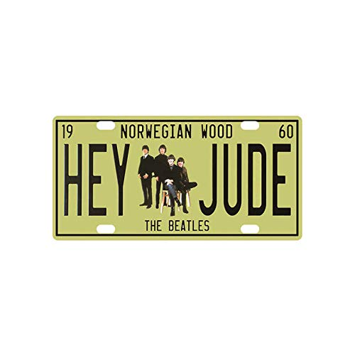 Wall Souvenir Plate (Novelty Funny Sign Hey Jude Vintage Metal Tin Sign Wall Sign Plaque Poster for Home Bathroom and Cafe Bar Pub, Wall Decor Car Vehicle License Plate Souvenir 11-14)