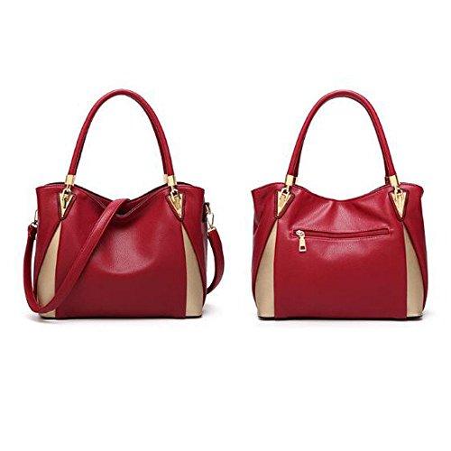 Main Red Texture Joint Sac Sac BAILIANG Litchi En Bandoulière à Fendu à Femme Cuir qEYxO