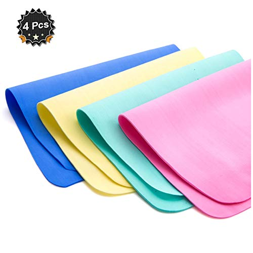 Warmtree Super Absorbent Synthetic Drying Chamois Cleaning Cloth Clean Towel,15