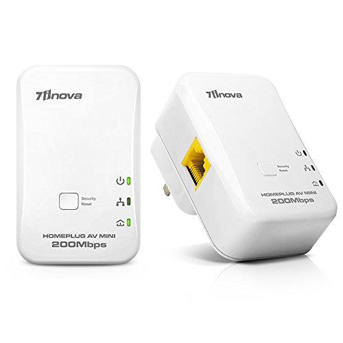 7INOVA AV200 Nano Powerline Ethernet Adapter Kit Pack, Mains Bridge Extender by 7INOVA