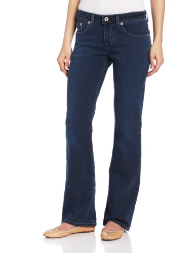 Dickies Women's Relaxed Boot Cut Jean, Medium Stonewash, 14 Regular