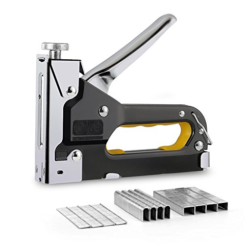 Staple Gun with Staples, 3 in 1 Heavy Duty Staple Gun Kit, Upholstery Stapler for Fixing Material, Decoration, Carpentry, Furniture, Doors and Windows by MIOO