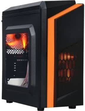 DIYPC DIY-F2-O Black/Orange USB 3.0 Micro-ATX Mini Tower Gaming Computer Case w