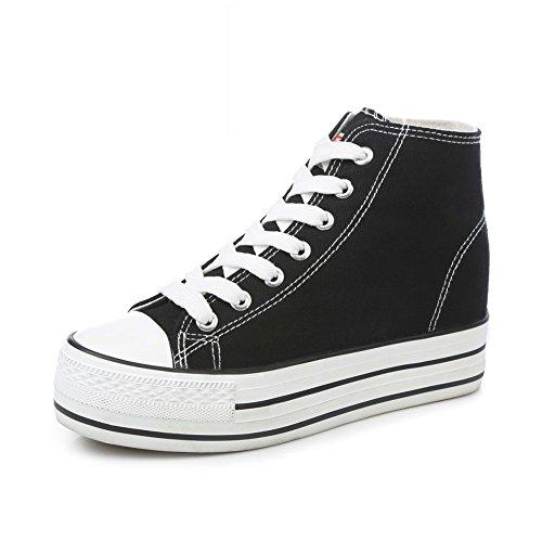Zapatos De Lona,Los Estudiantes Muffin Son Primavera Zapatos Minimalistas Clásico,Invisible Alto Blanco Zapato E