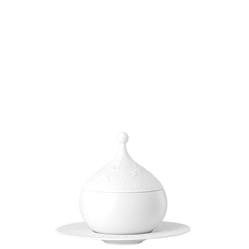 Sauce Boat, Covered, 18 1/2 ounce | Magic Flute White