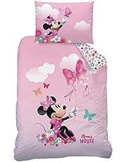 CTI Mimmi Pigg flanell/flanelett sängkläder set för flickor rosa Disney Mimmi Pigg fjäril 1 örngott 40 x 60 cm + 1 påslakan 100 x 135 cm