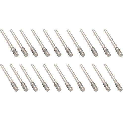 m Shank 4mm Diamond Grinding Burr Bits Sets for Dremel Rotary Tools 20Pcs ()