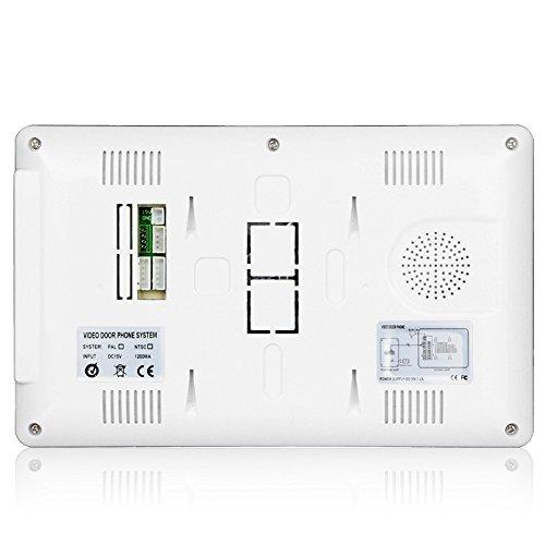 Home wired video intercom doorbell villa visual intelligent building intercom system electronic access control visual doorbell AU plug by SZYT (Image #5)