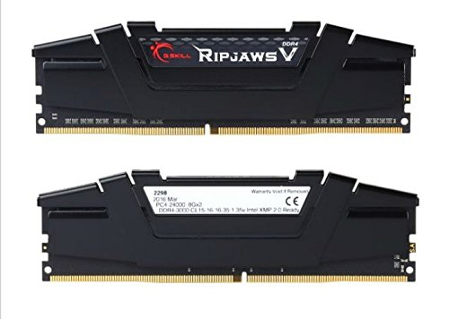 G.Skill Ripjaws V Series 16GB (2 x 8GB) 288-Pin SDRAM DDR4 3000 (PC4 24000) Intel Z170 Memory Kit F4-3000C15D-16GVKB