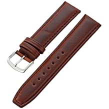 Hadley-Roma Men's MSM881RB-190 19mm Brown Oil-Tan Leather Watch Strap
