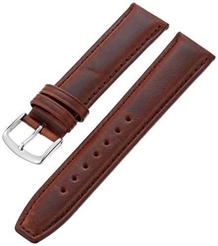 Hadley-Roma Men's MSM881RB-190 19-mm Brown Oil-Tan Leather Watch Strap ()