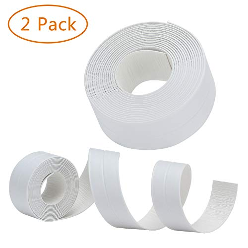 RONRI PVC Caulk Strip Waterproof Bathtub Strong Self Adhesive Stick Caulking and Flexible Peel Tape Sealing Tape Sealer Best for Fixture Wall Bathtub Corner Kitchen Bathroom Shower Sink countertop 2 by RONRI