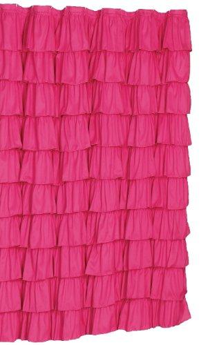 Flamenco Ruffle Shower Curtain (Pink)