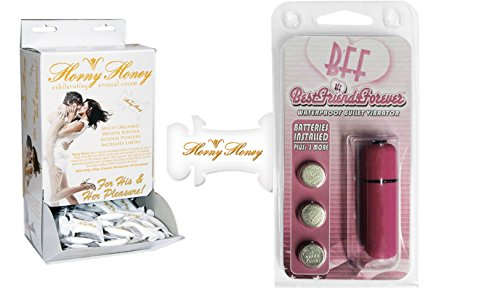 Bundle Package Of Horny Honey Stimulating Gel 2cc (DP/144) AND a bff Waterproof Vibrating Bullet Pink by Hott Products Unlimited