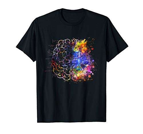 Colorful Brain Science and Art T-Shirt Unique - Womens Brain T-shirt