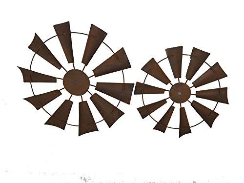 "Craft Outlet 15"" Rusty Windmill Decor Set (2 Piece)"