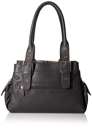 Visconti Sophia Leather Handbag Ladies Top Handle Shoulder Bag, Black, One - Handbag Shoulder Leather One