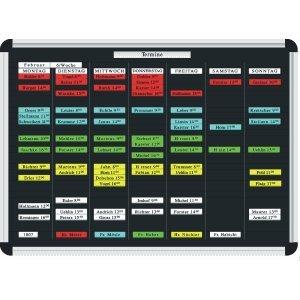 Ultradex Stecktafel Planrecord B320xH230xT22mm schwarz