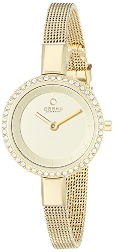 Obaku Women's V129LEGGMG Gold Ion-Plated Stainless Steel Watch